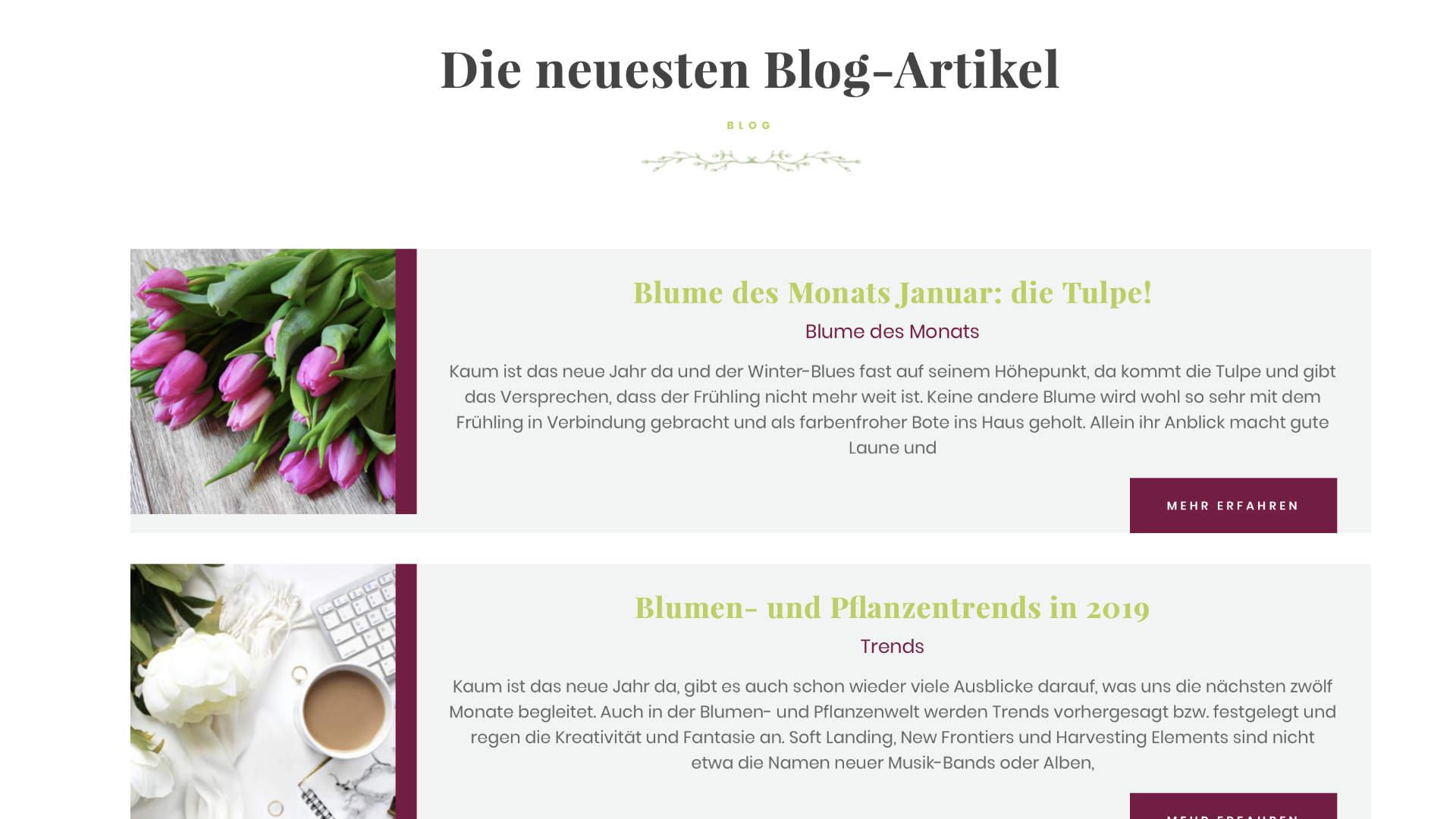 Blumenzeit neueste Blogartikel