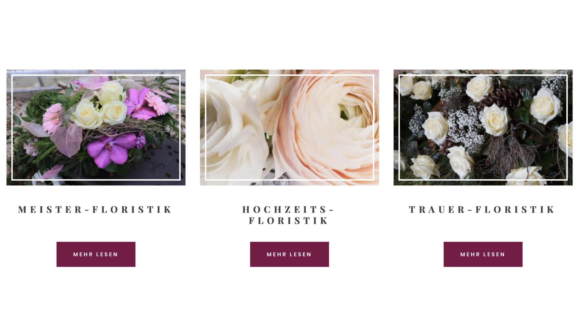 Blumenzeit Spezialisierungen