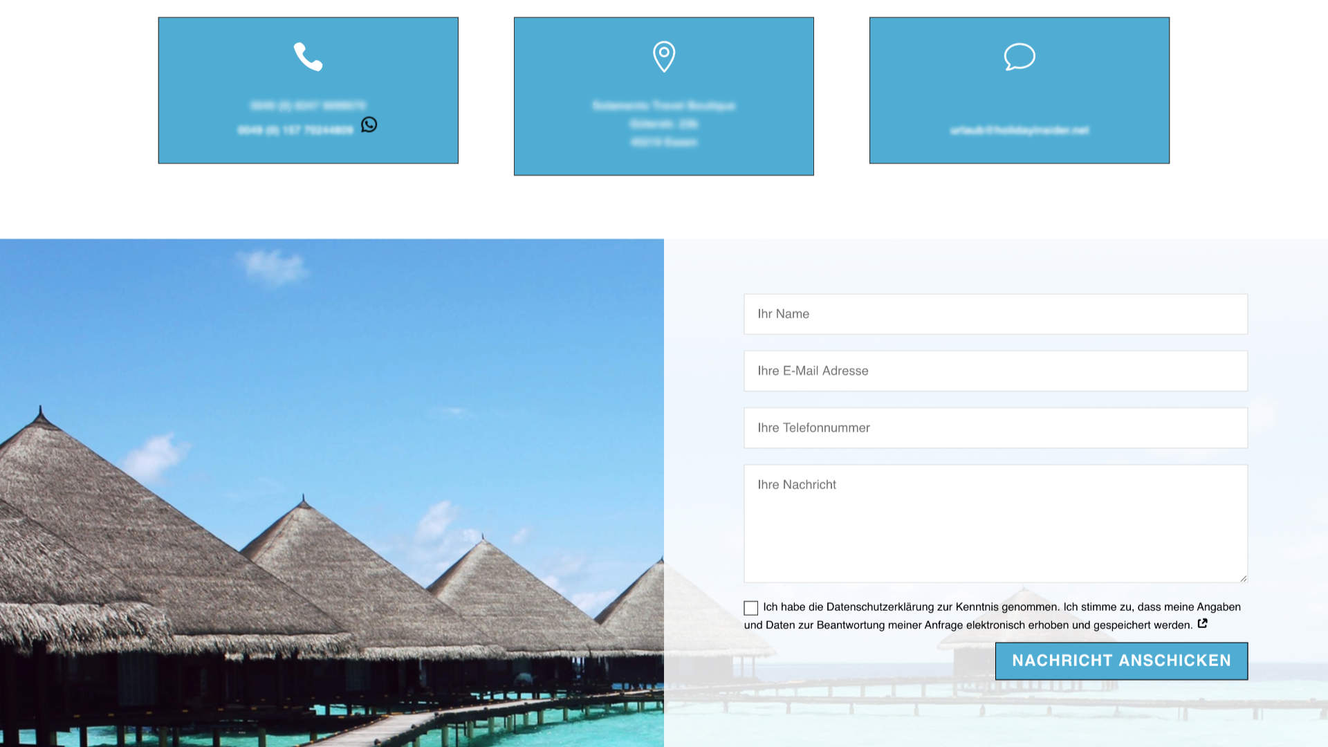 Holidayinsider Kontaktformular